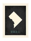 Black Map Dc Prints by Rebecca Peragine