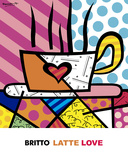 Latte Love Posters by Romero Britto