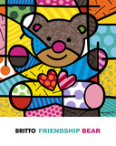 Friendship Bear Pósters por Romero Britto