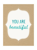 Beautiful 2 Posters by Rebecca Peragine