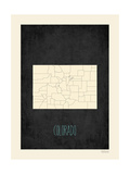 Black Map Colorado Posters by Rebecca Peragine