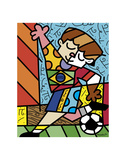 I Love Soccer Print by Romero Britto