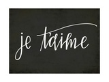 Je Taime in Black Posters by Rebecca Peragine