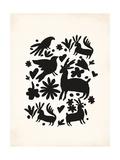 Black Otomi Prints by Rebecca Peragine
