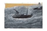 Trawler and Pier Giclee Print by Alfred Wallis