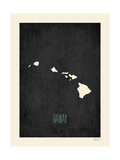 Black Map Hawaii Plakaty autor Rebecca Peragine