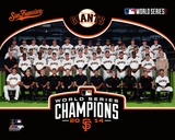 San Francisco Giants 2014 World Series Champions Team Sit Down Photo
