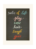 Rules of Life Art by Rebecca Peragine