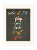 Rules of Life Art by Rebecca Peragine