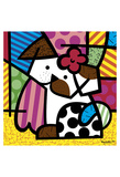 Valley Dog Print by Romero Britto