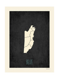 Black Map Belize Posters by Rebecca Peragine
