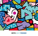 Best Friends Art by Romero Britto