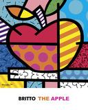 The Apple Affiches par Romero Britto