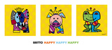 Happy Happy Happy Poster by Romero Britto
