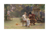 Two's Company, Three's None, C.1892 Giclee Print by Marcus Stone