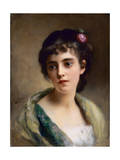 Head of a Girl Giclee Print by Gustave Jacquet