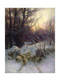 The Sun Had Closed the Winter Day, 1904 Giclée-Druck von Joseph Farquharson