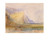 Domleschg Valley, Looking South East, Towards Schloss Ortenstein, C.1853 Giclee Print by Joseph Mallord William Turner