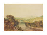 Addingham Mill on the Wharfe, West Yorkshire, C.1808 Giclee Print by Joseph Mallord William Turner