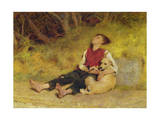 His Only Friend Giclee Print by Briton Rivière