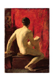 Seated Male Model Giclee Print by William Etty