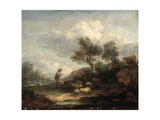 Landscape with Sheep Giclee Print by Thomas Gainsborough