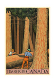 Timber in Canada Giclee Print by Keith Henderson
