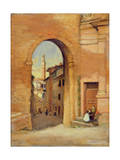 Gateway at Siena Giclee Print by Susan Isabel Dacre