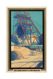 United Kingdom Machinery at a South African Mine Giclee Print by Austin Cooper