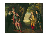 The Duel, from Act 3, Scene 4 of 'Twelfth Night', 1771-72 Giclee Print by Francis Wheatley