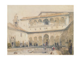 The Court of Myrtles, Alhambra (Or Hall of Myrtles, Alhambra) 1833 Giclee Print by David Roberts