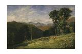 Haymaking Near Conway, 1852-53 Giclee Print by David Cox
