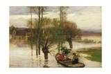 A Flood, 1876 Giclee Print by Léon Augustin L'hermitte