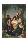 Family Group (The Bromley Family) 1844 Giclee Print by Ford Madox Brown