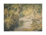 A River in Spate, C.1796 Giclee Print by Joseph Mallord William Turner
