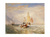 Now for the Painter' (Rope) - Passengers Going on Board, 1827 Giclee Print by Joseph Mallord William Turner