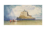 Mont St. Michel, 1828 Giclee Print by John Sell Cotman