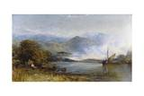 Just Arrived by the Sloop (In the Conway Valley, North Wales), 1889 Giclee Print by Henry Clarence Whaite