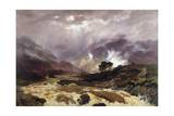 A Spate in the Highlands, 1866 Giclee Print by Peter Graham