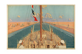 Suez Canal, from the Series 'The Empire's Highway to India', 1928 Giclee Print by Charles Pears