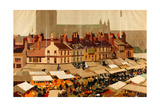 An English Country Market Giclee Print by Fred Taylor
