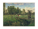 A Pasture in Normandy Giclee Print by Constant-emile Troyon