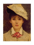 Self-Portrait, 1877 Giclee Print by Louise Jopling