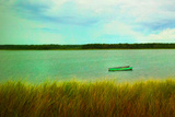 Row Boat near Oak Bluffs in Marthas Vineyard Art Print Poster Photo