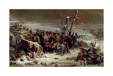 Marshal Ney Supporting the Rear Guard During the Retreat from Moscow, 1856 Giclee Print by Adolphe Yvon