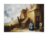 Cottage in a Landscape Giclee Print by David Teniers the Younger