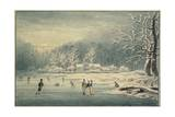 Hyde Park in the Snow, 1796 Giclee Print by Edward Dayes