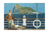 Gibraltar, from the Series 'The Empire's Highway to India', 1928 Giclee Print by Charles Pears