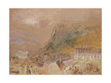 The Bastille at Grenoble, from the Village of La Tronche, C.1836 Giclee Print by Joseph Mallord William Turner