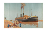 The Suez Canal Giclee Print by Charles Pears